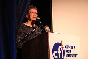 Harriet A. Hall - Hall accepts an award from the IIG on August 21, 2010.