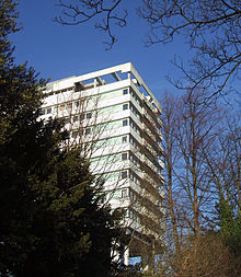 The Disused Hallam Tower Hotel From Fulwood Road 3 February 2007