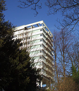 Hallam Tower - The disused Hallam Tower Hotel from Fulwood Road, 3 February 2007.