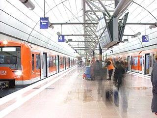 metro railway in Hamburg, Germany