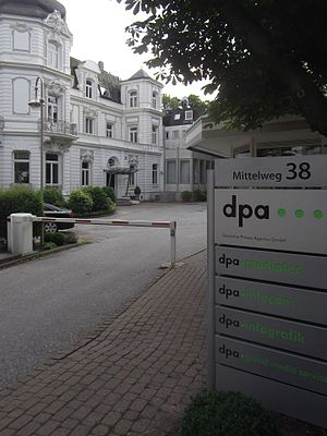 Deutsche Presse-Agentur - dpa corporate headquarters at Mittelweg in Rotherbaum, Hamburg