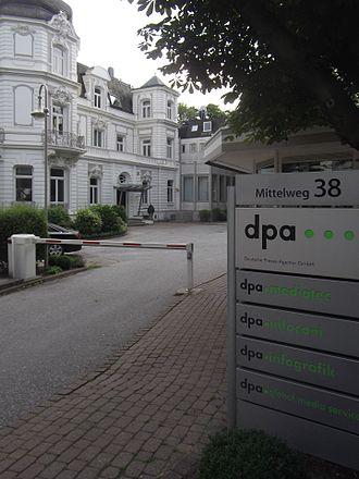 Deutsche Presse-Agentur - dpa corporate headquarters at Mittelweg in Rotherbaum, Hamburg