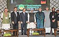 Hamid Karzai, the Prime Minister, Dr. Manmohan Singh, the Union Minister for New and Renewable Energy, Dr. Farooq Abdullah, the Minister of State for Environment and Forests (Independent Charge).jpg