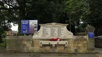St Mary's Church, Handsworth, Sheffield - Handsworth war memorial, on the churchyard boundary facing Handsworth Road