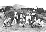 Harvest time in Romania, 1920.jpg