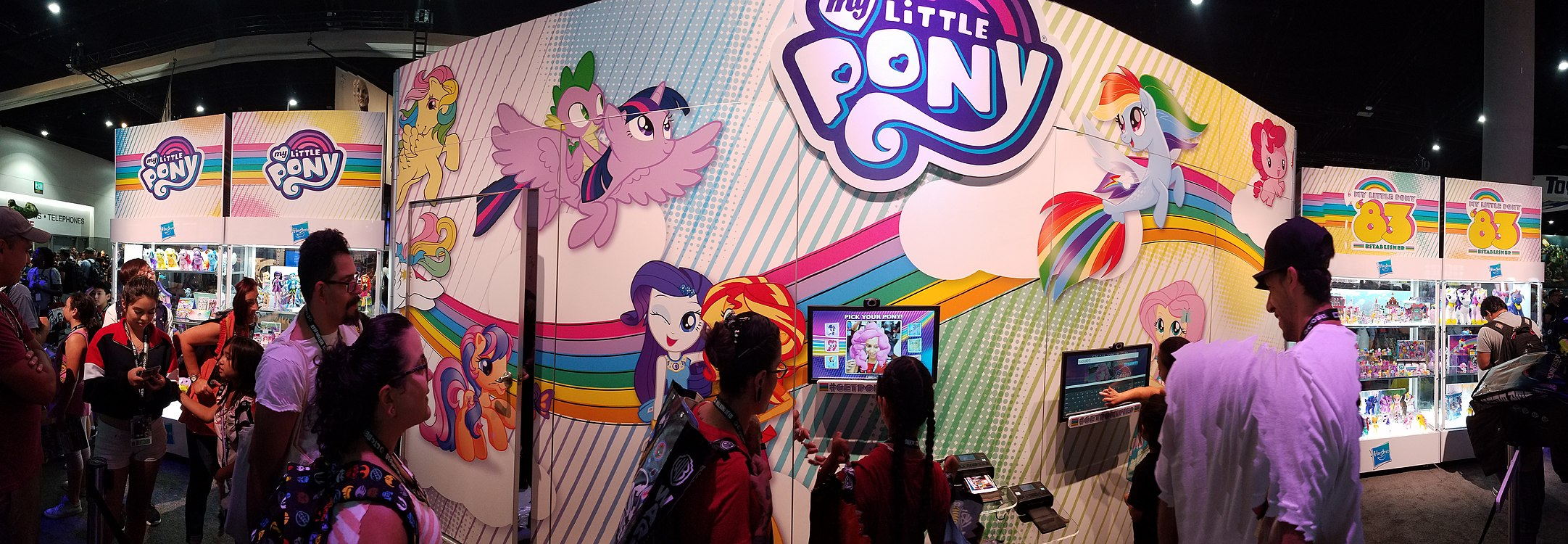Hasbro booth MLP section.jpg