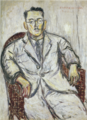 HasegawaToshiyuki-1930-Portrait of Mr.Maeda Yūgure.png
