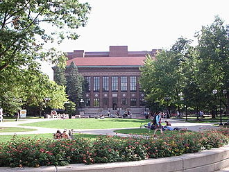 University of Michigan Library - Hatcher Graduate Library viewed from the North
