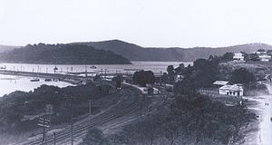 Hawkesbury River railway station - The station circa 1922