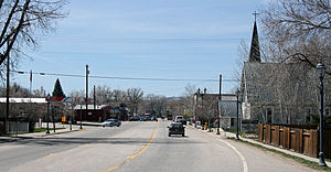 Hayden, Colorado - Jefferson Avenue (U.S. Route 40) in Hayden.