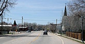 Hayden, Colorado - Jefferson Avenue (U.S. Route 40) in Hayden.