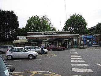 Haywards Heath railway station - Image: Haywards Heath station from car park