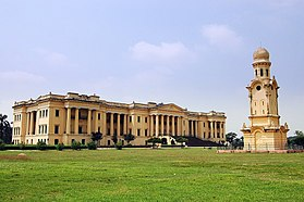 The Hazarduari Palace with the clock tower in the foreground