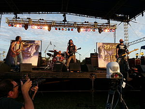 Republic of Texas Biker Rally - Heaven Below performing at the Republic of Texas Biker Rally