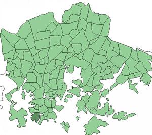 Jätkäsaari - Image: Helsinki districts Jatkasaari