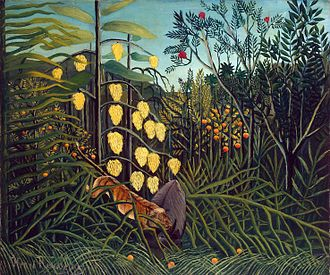 Primitivism - Henri Rousseau, In a Tropical Forest Combat of a Tiger and a Buffalo, 1908–1909, Hermitage Museum, St. Petersburg