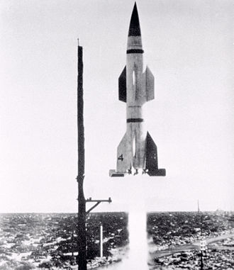Malta Test Station - Hermes A-1 Rocket test at White Sands, New Mexico. The Hermes A-1 used engines tested in Malta