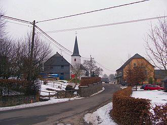 Herresbach, Belgium - Herresbach (Village center with St. Gangolf's Catholic church)