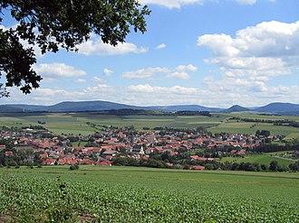 Rasdorf - View of Rasdorf from Gehilfersberg