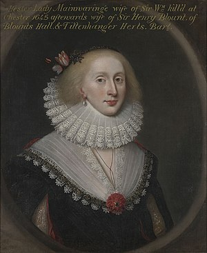 Sir Thomas Blount, 1st Baronet - Thomas Blount was the son of Henry and Hester Blount (pictured).