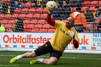 Heurelho Gomes - Gomes warming-up for Watford.