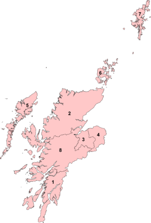 Highlands and Islands (Scottish Parliament electoral region) - Image: Highlands and Islands (Scottish Parliament electoral region) 2011