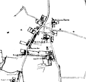 Hilsea - A map of Hilsea from 1833