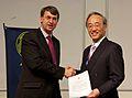 Hiromoto Shibahashi and Roger Davies, NAM 2012.jpg