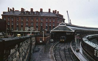 Holyhead railway station - Holyhead station in September 1967 under British Rail.