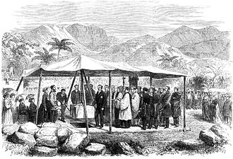Queen Emma of Hawaii - Laying of the cornerstone of St. Andrew's Cathedral in 1867
