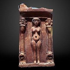 Household shrine with nude goddess-1990.605