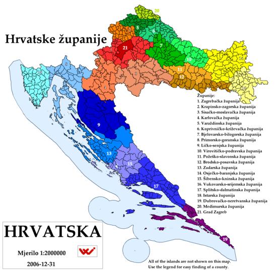 Provincies Van Kroati 235 Wikipedia