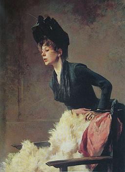 Hugo von Habermann junge Dame 1889