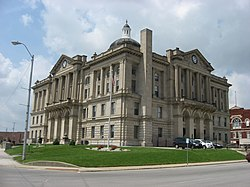 Huntington County Courthouse in Huntington from the southeast.jpg