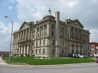 Huntington County, Indiana - Image: Huntington County Courthouse in Huntington from the southeast