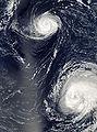 Hurricanes Gordon Helene 2006.jpg