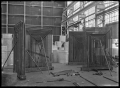Hutt Railway Workshops at Woburn. Interior view with new heating apparatus, 1929. ATLIB 290020.png