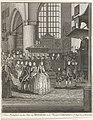 Huwelijk van Karel Christiaan van Nassau-Weilburg met prinses Carolina, 1760 Trouw-Plechtigheid van den Prins van Weilburg en de Princesse Carolina in 's Hage den 5. Maart 1760 (titel op object), RP-P-1944-2048.jpg
