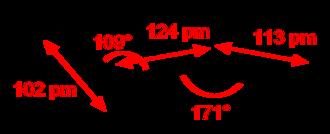 Hydrazoic acid - Image: Hydrogen azide 2D dimensions