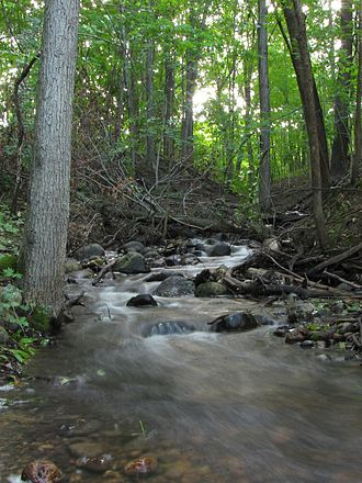 Ice Age Trail - A creek along the Monches segment in Waukesha County