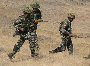Indian Army men during exercise