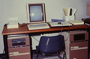 PERQ - Two ICL PERQ 1 workstations.
