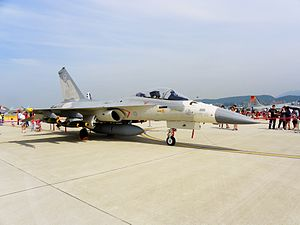 IDF F-CK-1 Display in ROCAF Songshan Air Force Base 20110813a.jpg