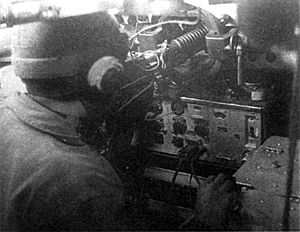 Type 97 Chi-Ha - Type 97 Chi-Ha tank radio operator and vehicle Radio Set Type 96 Mark 4 Bo.