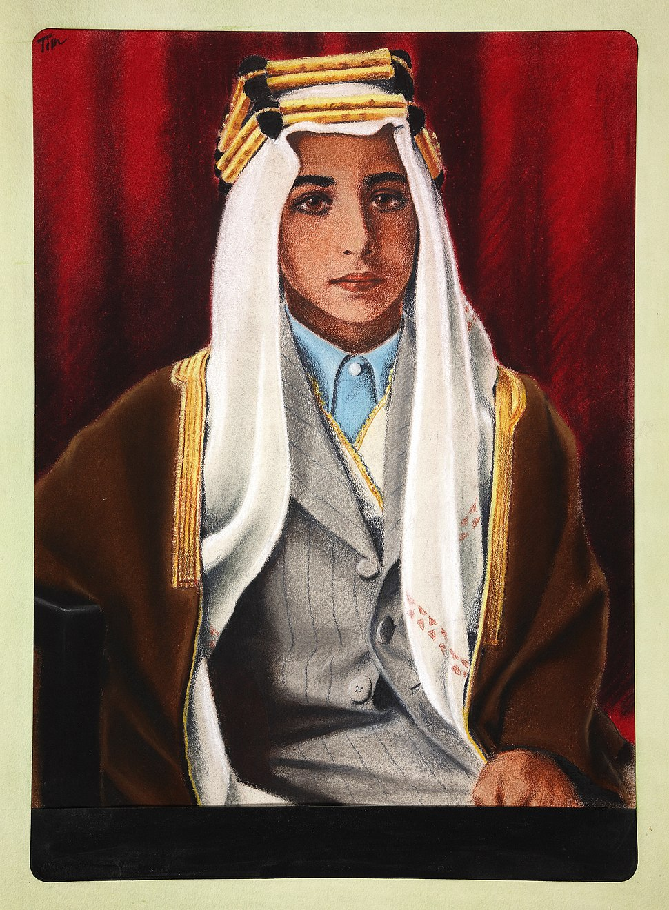 INF3-79 King Feisal of Iraq Artist Tim