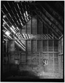 INTERIOR VIEW OF ORIGINAL BARN LOOKING NORTH - Crawford Guard Station, Barn, Cascade, Valley County, ID HABS ID,43-CASC.V,2A-7.tif