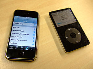 iPhone 3G and iPod Classic 5G.