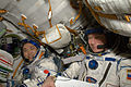 ISS-20 Koichi Wakata and Gennady Padalka in the Soyuz TMA-14 spacecraft.jpg