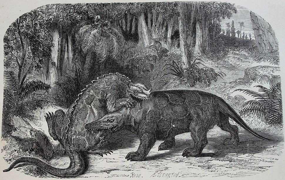 Iguanodon versus Megalosaurus
