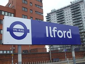 Ilford railway station - Ilford platform signage